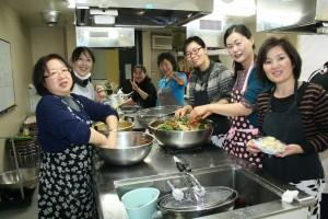 2016012313先生と生徒が作る韓国料理